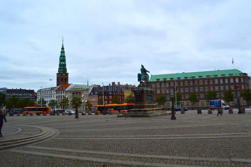 Centro da cidade em Copenhaga fotografia de stock royalty free