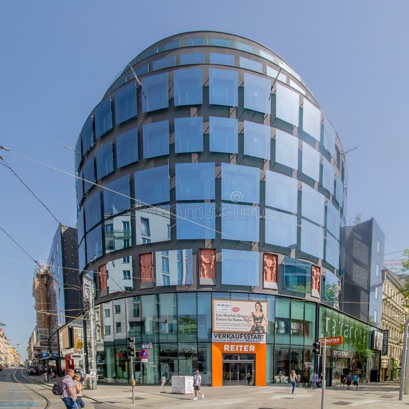 Centro da cidade prolongado Mariahilf em Viena, ?ustria, outono imagem de stock royalty free