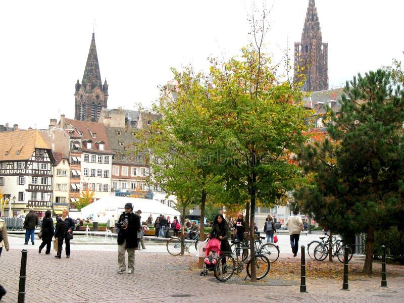 Centro da cidade Strasbourg foto de stock