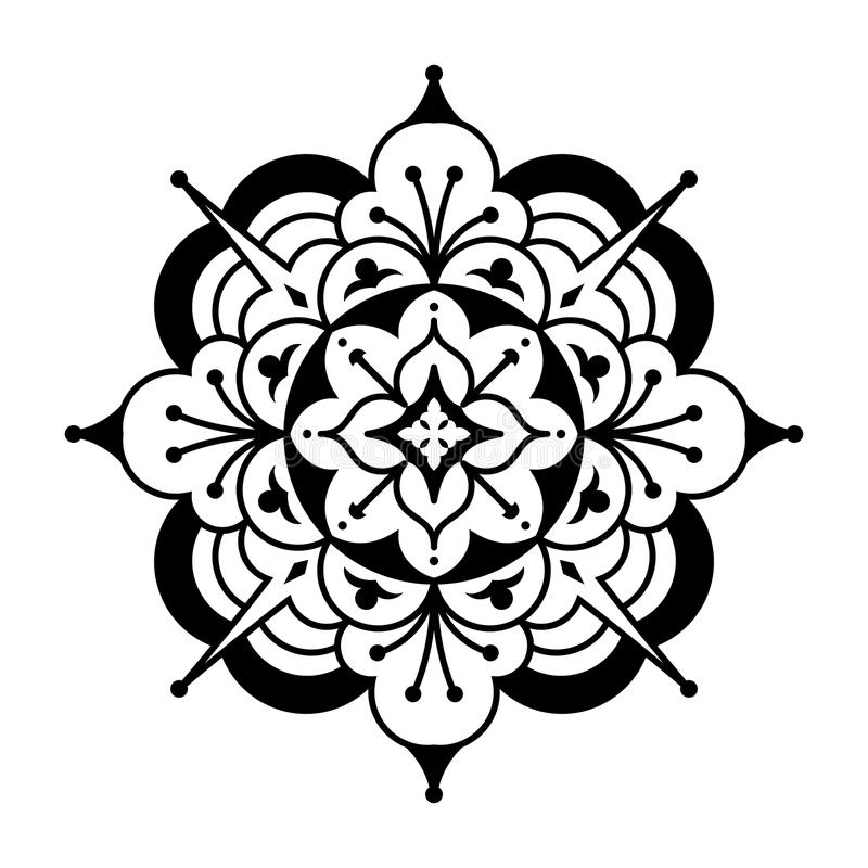 Centro da flor do Arabesque foto de stock