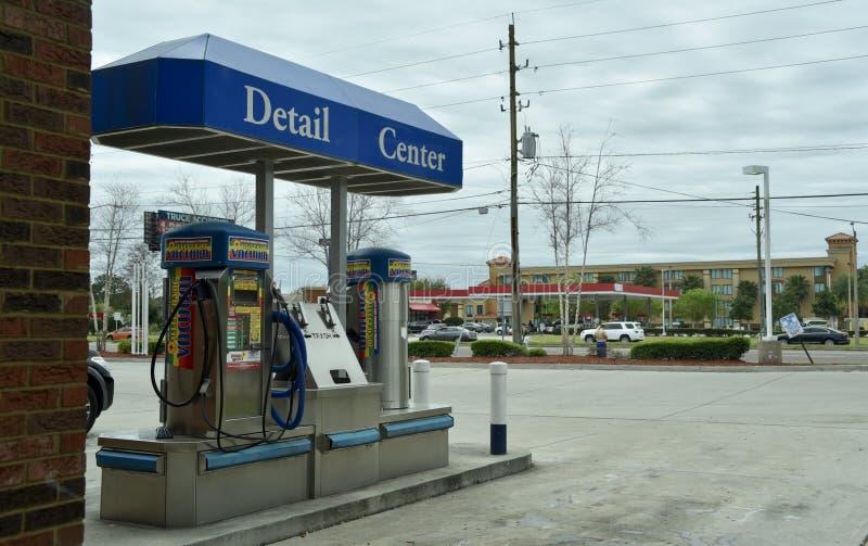 Centro da lavagem de carros e do detalhe imagem de stock