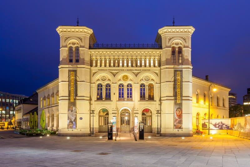 Centro da paz de Nobel em Oslo imagens de stock