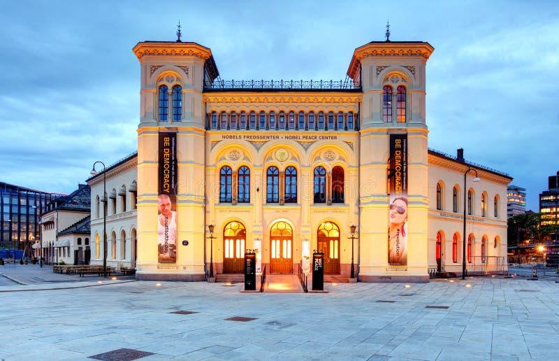 Centro da paz de Nobel, Oslo, Noruega fotografia de stock