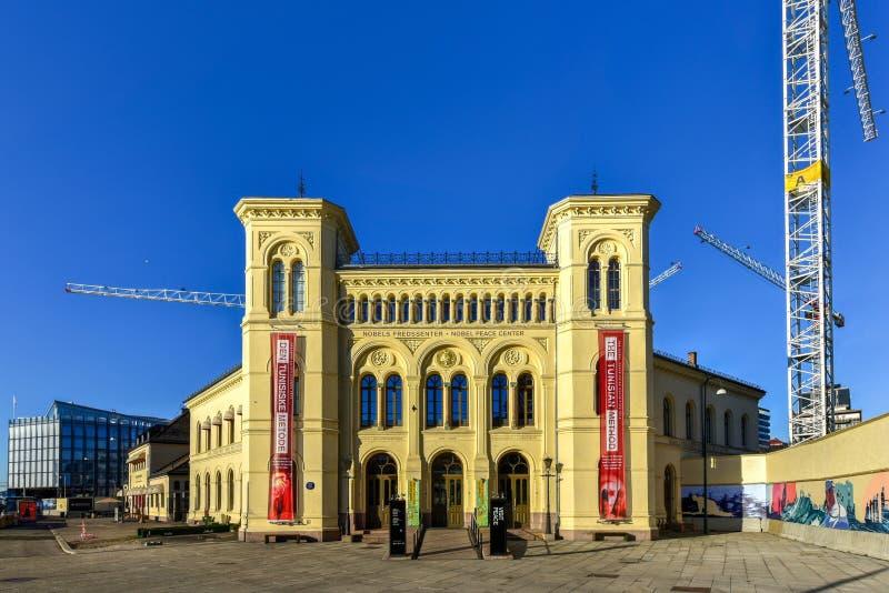 Centro da paz de Nobel - Oslo, Noruega fotos de stock
