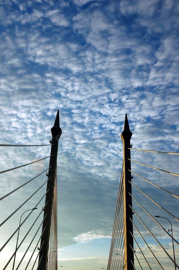 Centro da ponte de Penang foto de stock royalty free