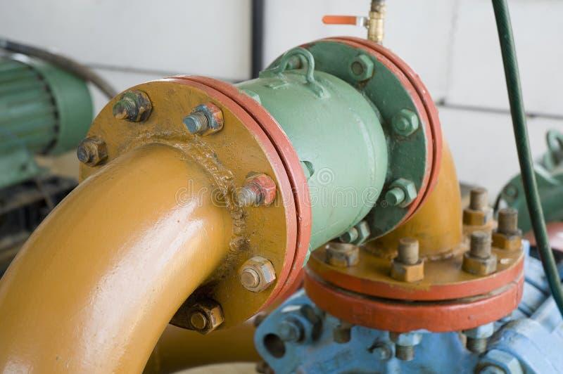 Centro da refinaria em Sibéria ocidental fotografia de stock royalty free
