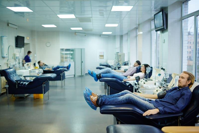 Centro da transfusão de sangue foto de stock royalty free