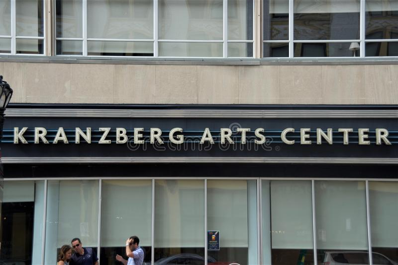 Centro das artes de Kranzberg, St Louis, Missouri fotografia de stock