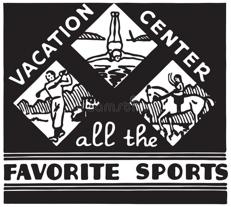 Centro das férias ilustração stock