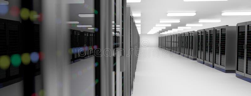 Centro dati della stanza del server Il backup, ospitare, l'elaboratore centrale, l'azienda agricola ed il computer tormentano con illustrazione di stock