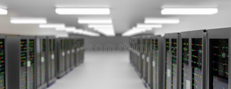 Centro dati della stanza del server Il backup, ospitare, l'elaboratore centrale, l'azienda agricola ed il computer tormentano con royalty illustrazione gratis