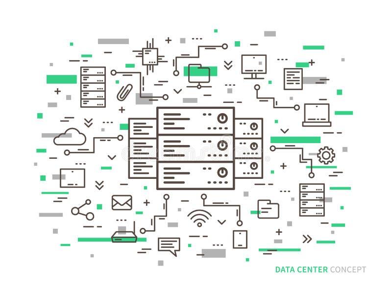 Centro dati lineare royalty illustrazione gratis