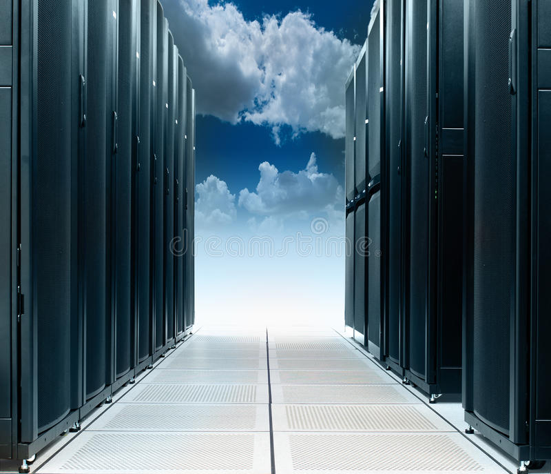 Centro dati sulla nuvola immagini stock libere da diritti