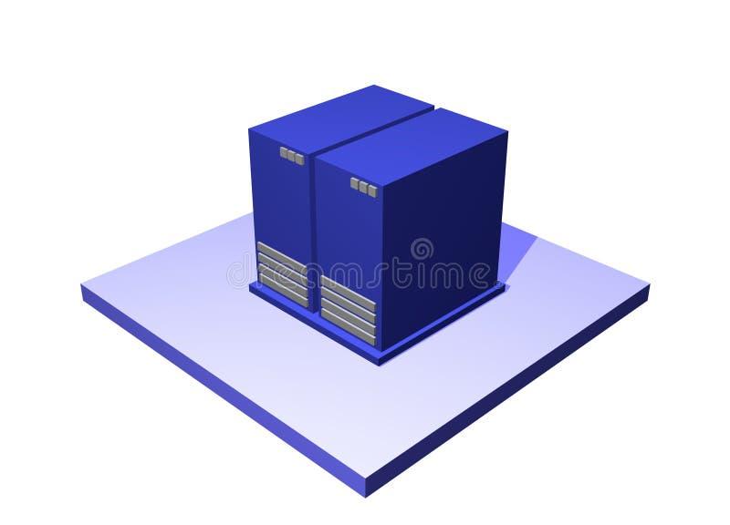 Centro dati uno schema Objec della catena di rifornimento di logistica illustrazione vettoriale