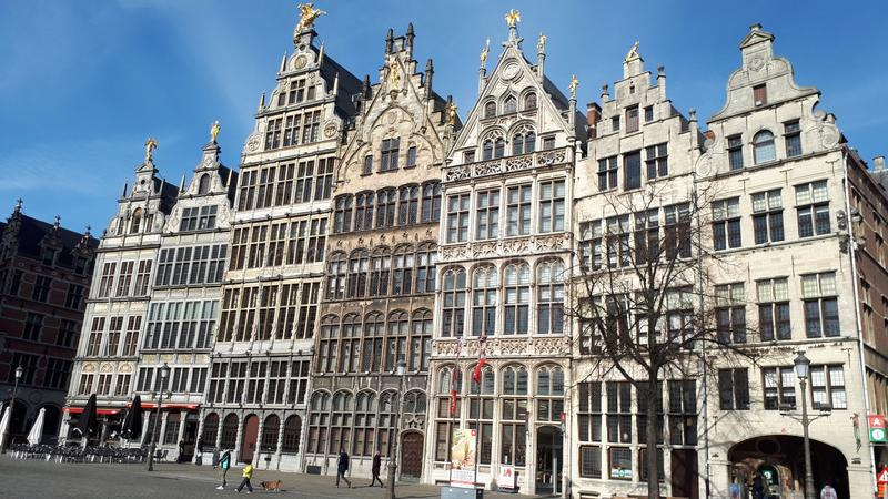 Centro de Antwerpen fotos de stock royalty free