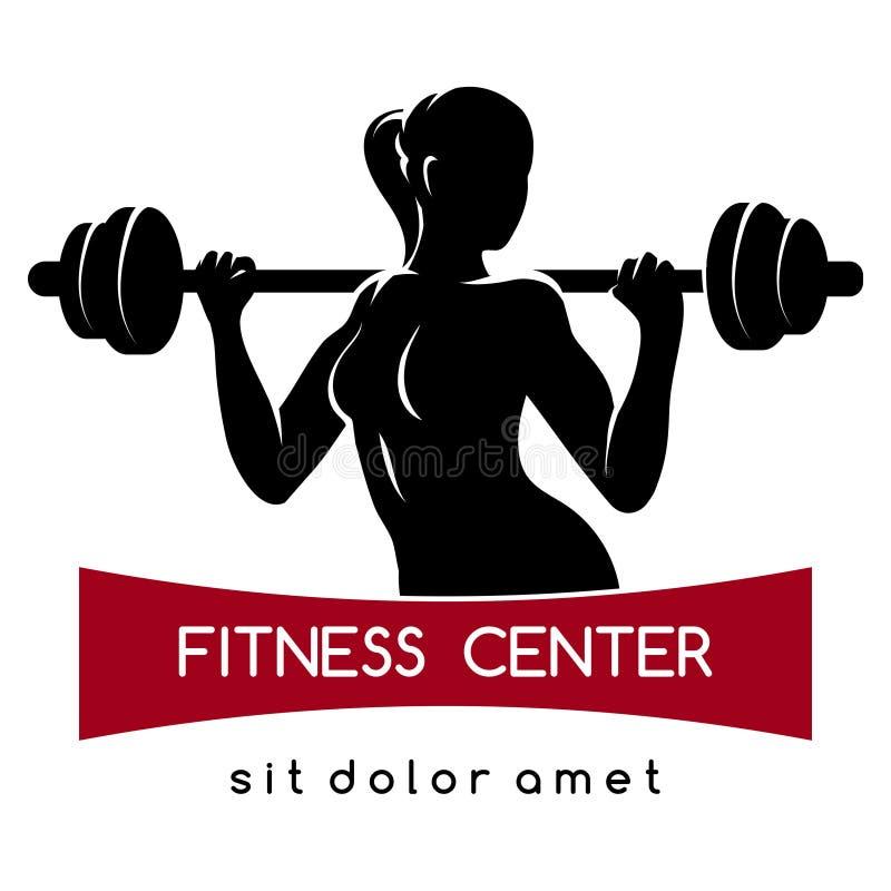 Centro de aptitud o logotipo del gimnasio ilustración del vector