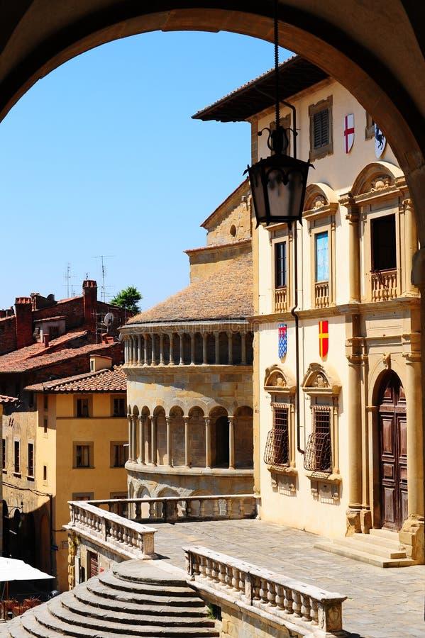 Centro de Arezzo fotos de archivo