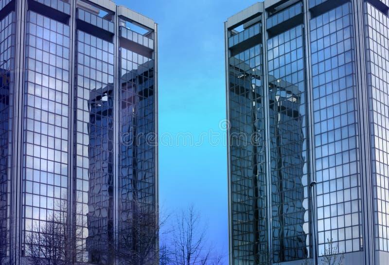 Centro de asunto en Milano fotos de archivo
