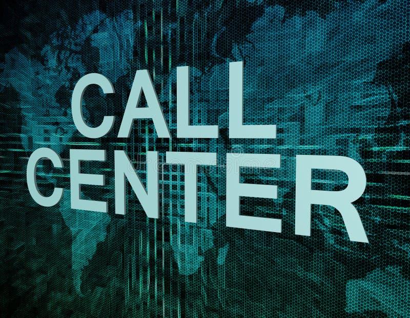 Centro de atención telefónica ilustración del vector