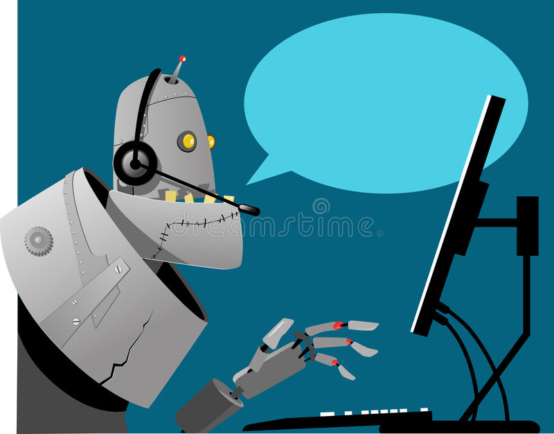 Centro de atención telefónica automatizado ilustración del vector