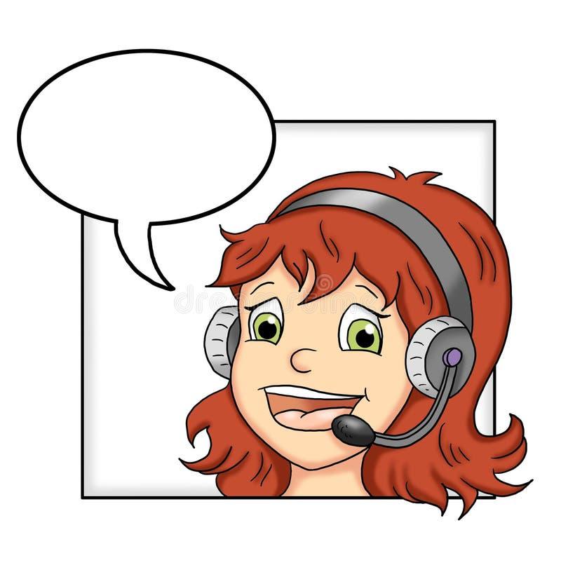 Centro de atención telefónica - mujer stock de ilustración