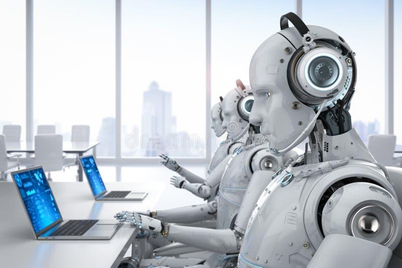 Centro de atendimento do robô ilustração stock