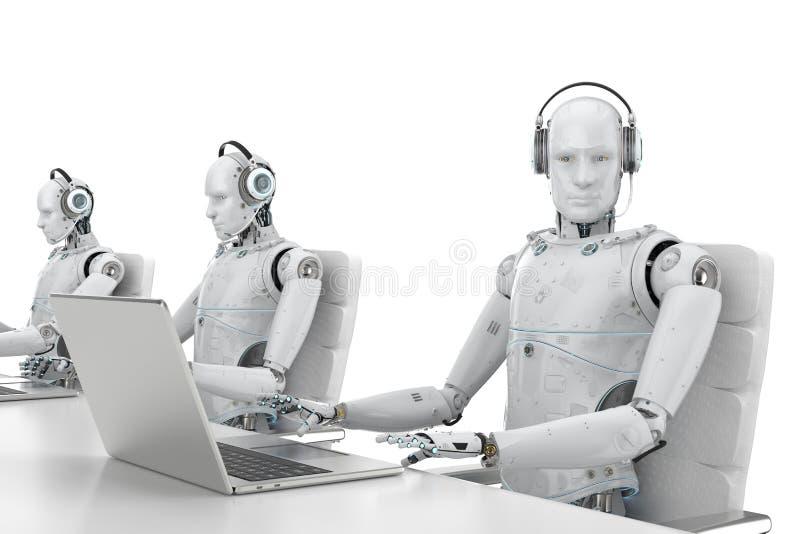 Centro de atendimento do robô ilustração royalty free