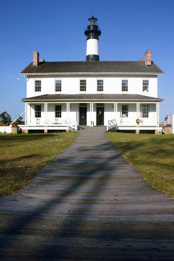 Centro de Bodie Island Lighthouse y del visitante foto de archivo