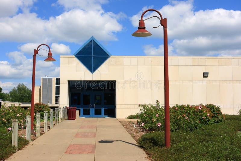 Centro de cálculo de Bennett - universidade de Washburn fotos de stock