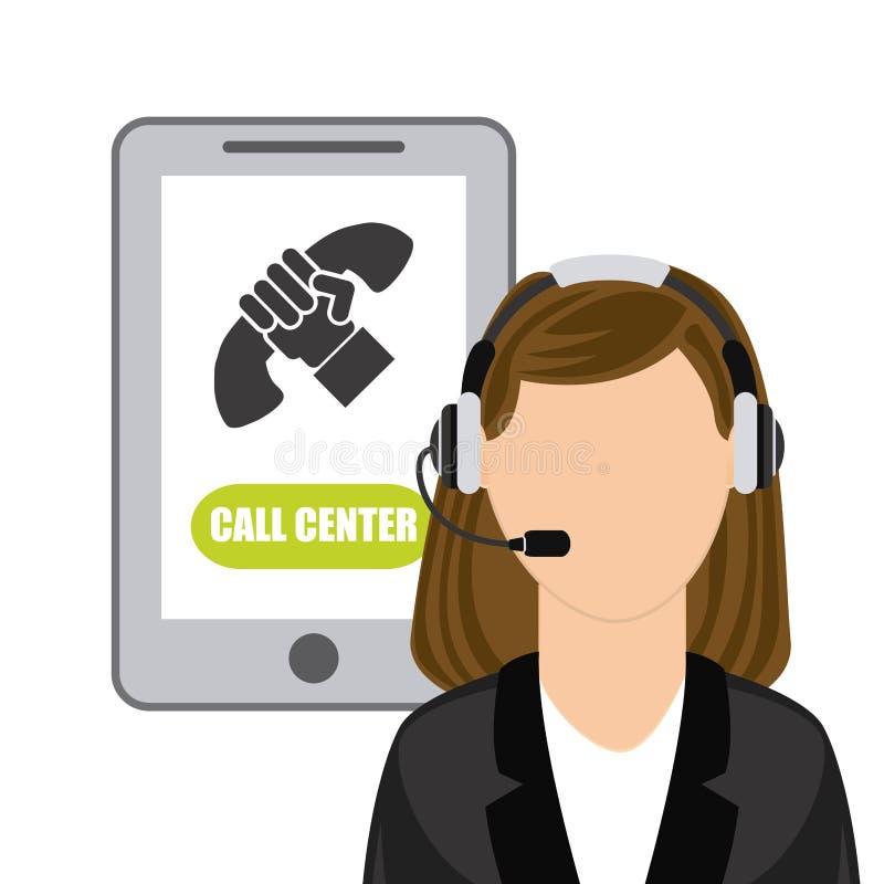 Centro de chamadas ilustração royalty free