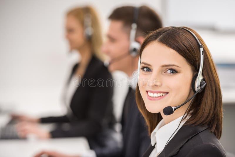 Centro de chamadas imagens de stock