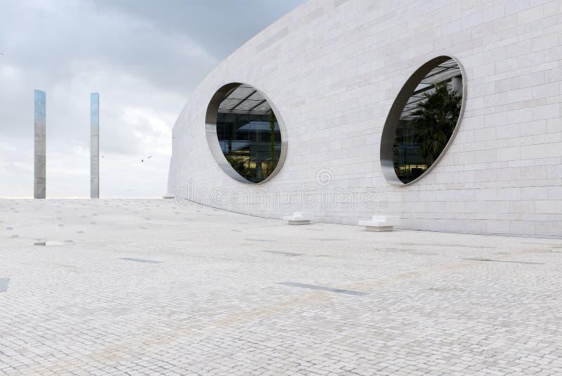 Centro de Champalimaud para o desconhecido em Lisboa, Portugal fotografia de stock royalty free
