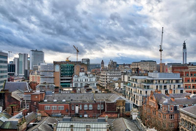 Centro de cidade de Birmingham imagens de stock