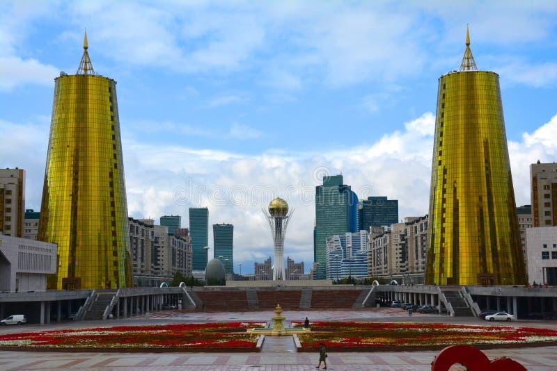 Centro de cidade Cazaquistão de Astana fotos de stock royalty free