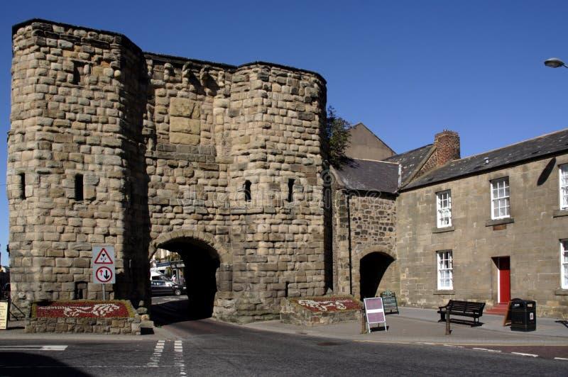 Centro de cidade de Alnwick fotos de stock royalty free