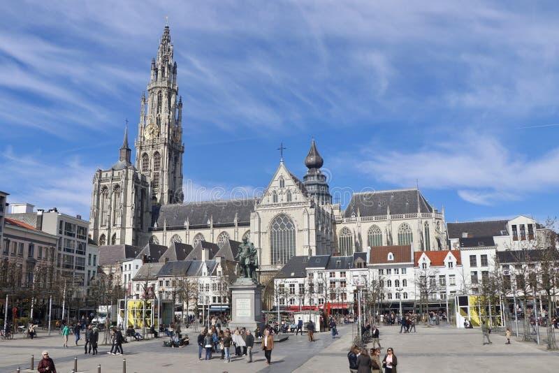 Centro de cidade de Antuérpia foto de stock royalty free