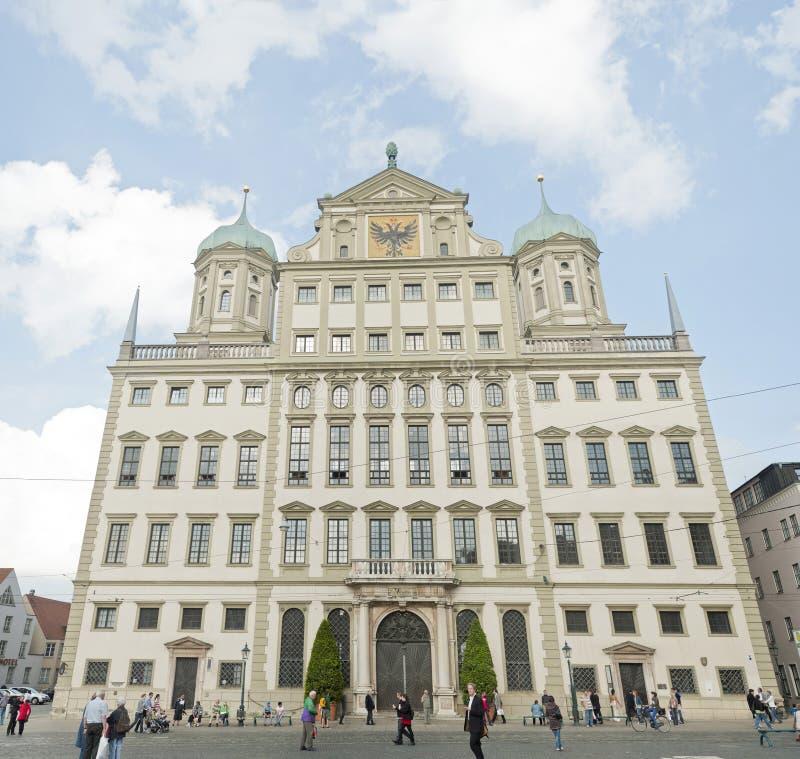 Centro de cidade de Augsburg, Alemanha imagens de stock