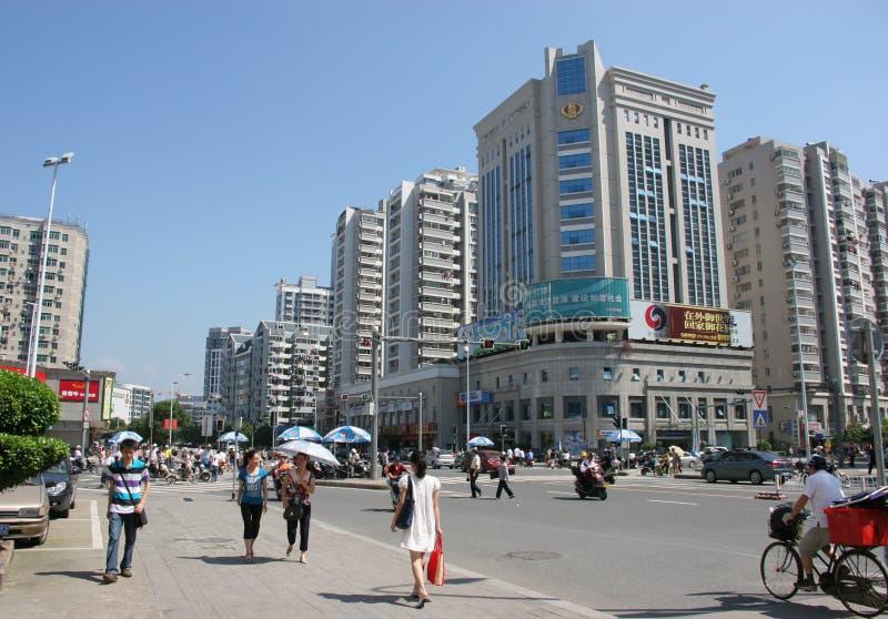 Centro de cidade de China fotografia de stock royalty free