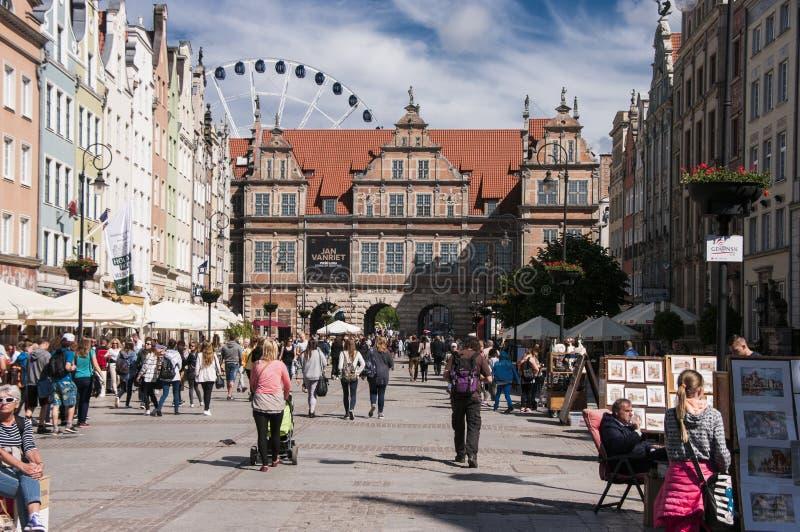 Centro de cidade de Gdansk imagem de stock