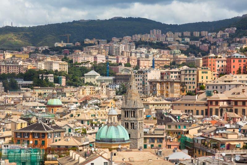 Centro de cidade de Genoa, Italy imagens de stock royalty free