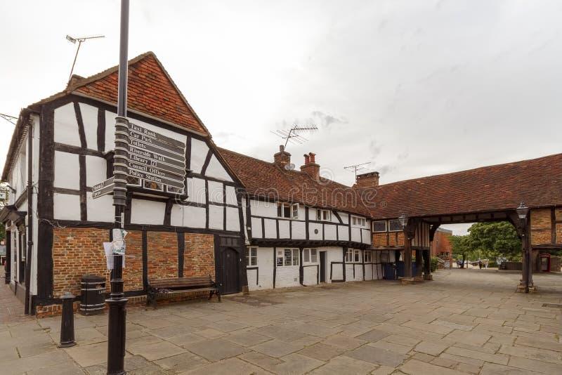 Centro de cidade de Godalming, Surrey, Reino Unido imagens de stock