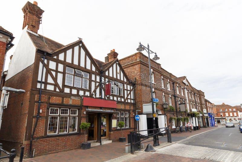 Centro de cidade de Godalming, Surrey, Reino Unido foto de stock royalty free