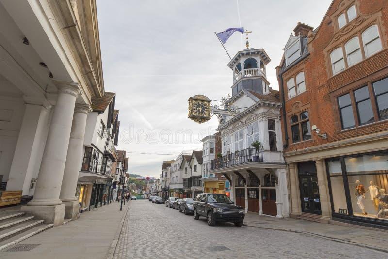 Centro de cidade de Guildford, Surrey, Reino Unido fotos de stock royalty free