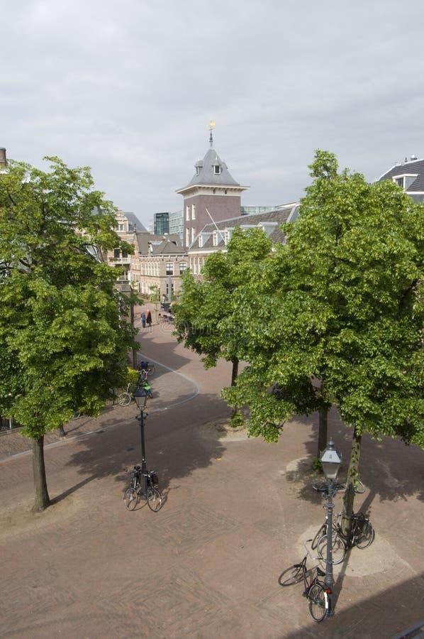 Centro de cidade de Haarlem foto de stock royalty free