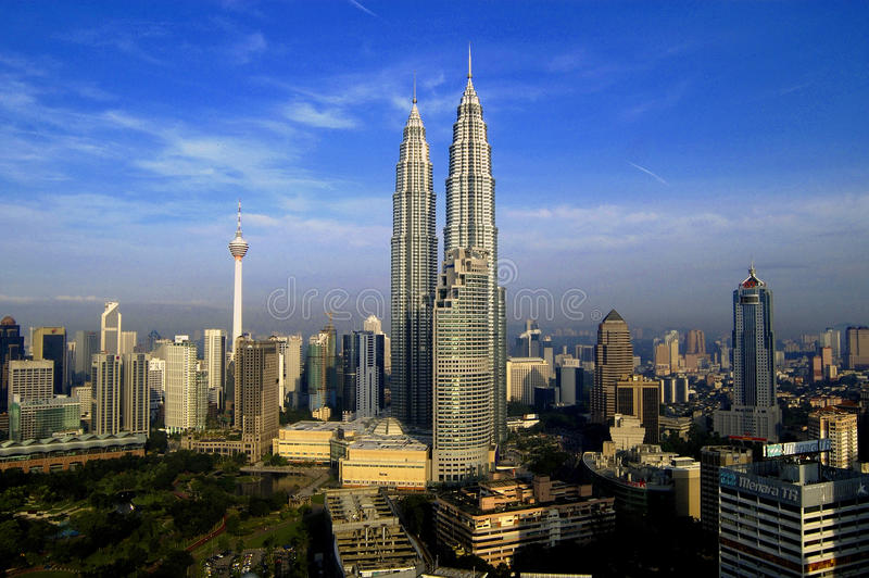 Centro de cidade de Kuala Lumpur imagem de stock