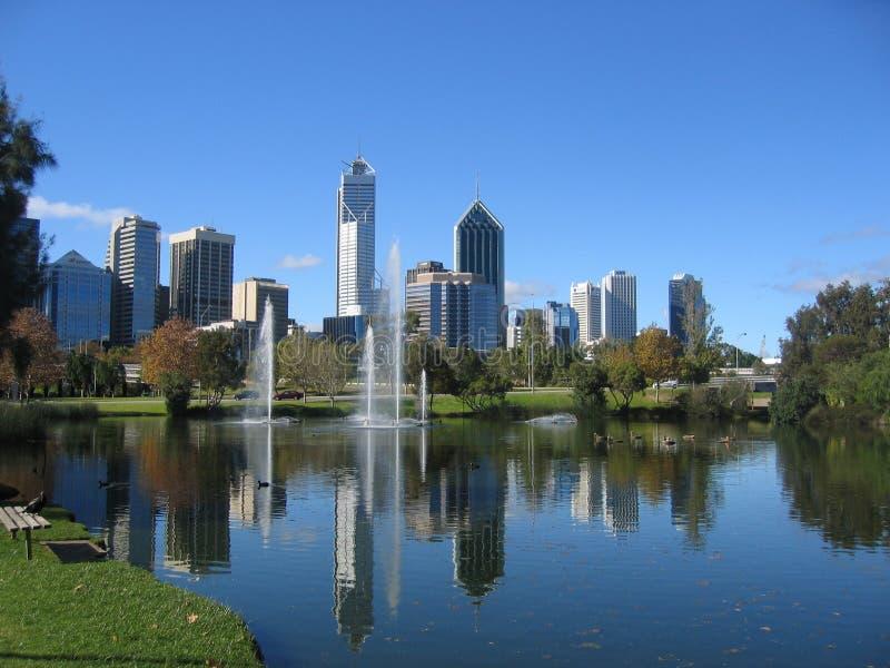 Centro de cidade de Perth imagem de stock