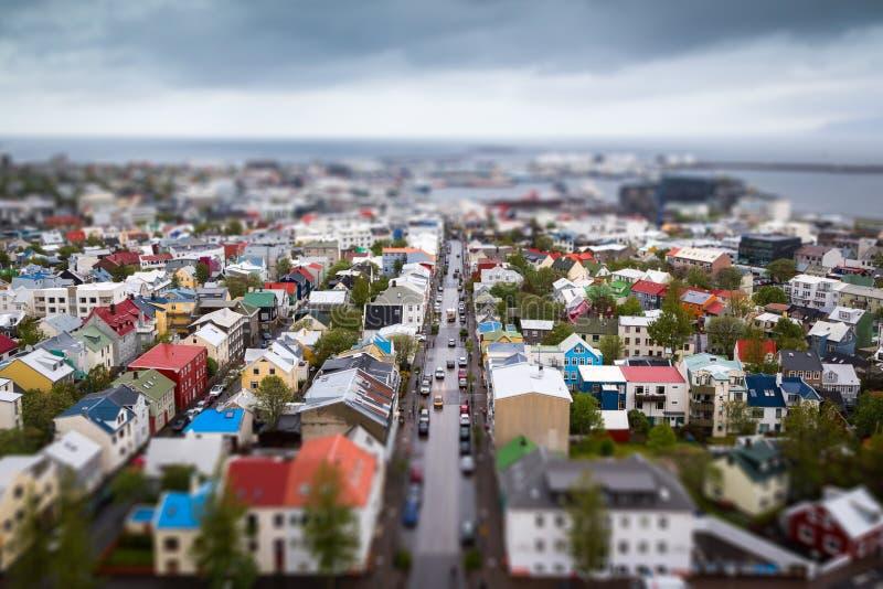 Centro de cidade de Reykjavik foto de stock