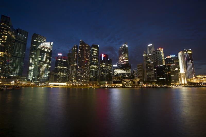 Centro de cidade de Singapura imagem de stock royalty free