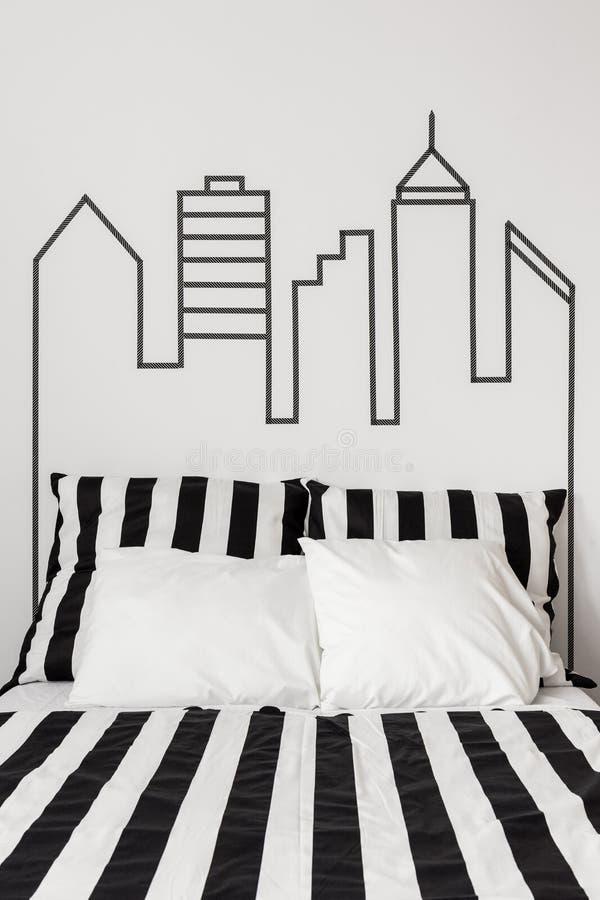Centro de cidade em seu apartamento imagem de stock royalty free