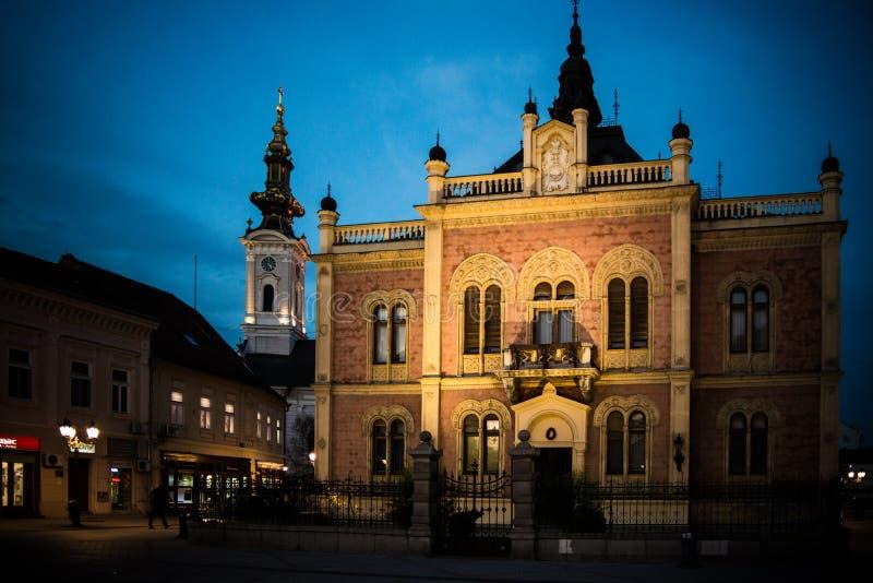 Centro de cidade velho de Novi Sad foto de stock